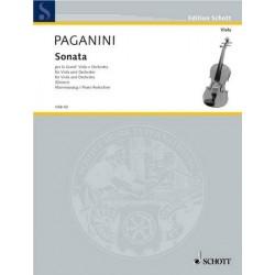 Paganini, Nicolò: Sonata per la grand Viola e Orchestra Klavierauszug