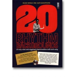 Music minus one alto sax : Book + CD 20 rhythm backgrounds 20 easy solos