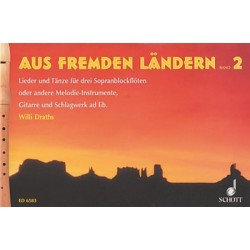 Aus fremden Ländern Band 2 für 3 C-Flöten, Partitur