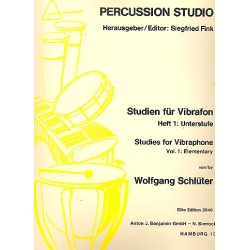 Schlüter, Wolfgang: Studien für Vibraphon