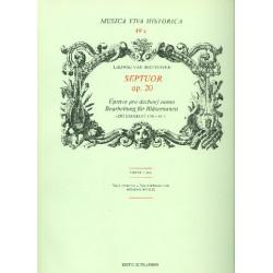 Beethoven, Ludwig van: Septett op.20 : für 2 Oboen, 2 Klarinetten, 2 Hörner, 2 fagotte und Kontrafagott, Partitur