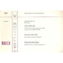 Purcell, Henry: Trio-Stücke : für 3 Blockflöten oder andere Instrumente Spielpartitur