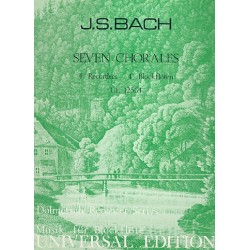 Bach, Johann Sebastian: 7 Chorales for 4 recorders (SSAA) score