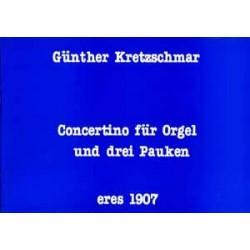 Kretzschmar, Günther: Concertino : für Orgel und 3 Pauken