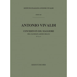 Vivaldi, Antonio: Concerto sol maggiore F5.2 : per 2 mandolini, archi e organo Partitur