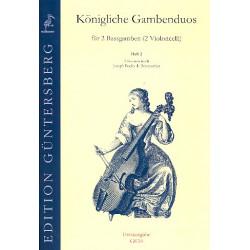 Boismortier, Joseph Bodin de: Königliche Gambenduos Band 2 : für 2 Baßgamben 6 Sonaten nach Boismortier