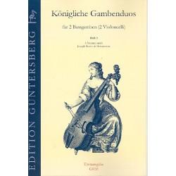 Königliche Gambenduos Band 3 : für 2 Baßgamben