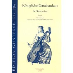 Königliche Gambenduos Band 4 : für 2 Baßgamben 3 Sonaten nach Corelli, Mascitti, Leclair