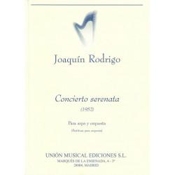 Rodrigo, Joaquin: Concierto serenata : para arpa y orquesta, partitura de bolsillo (tp)