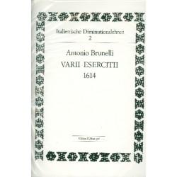 Brunelli, Antonio: Varii esercicii : für 1-2 Stimmen Partitur