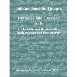 Quantz, Johann Joachim: Fantasien und Capricen : für 2 Blockflöten (AB)