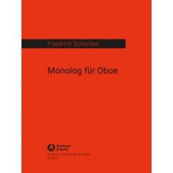 Schenker, Friedrich: Monolog : für Oboe