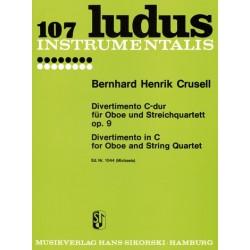 Crusell, Bernhard Henrik: Divertimento C-Dur op.9 : für Oboe und Streichquartett Stimmen
