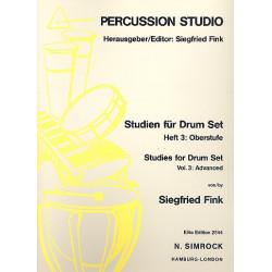 Fink, Siegfried: Studien für Drumset Band 3 : Oberstufe