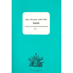 Mouquet, Jules: Suite for flute, oboe, 2 clarinets, 2 bassoons and horn score and parts