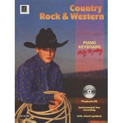 Country Rock and Western (+CD) : for piano or keyboard (easy to play)