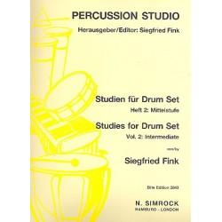Fink, Siegfried: Studien für Drum Set Band 2 : Mittelstufe