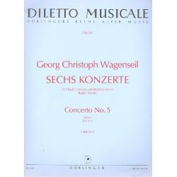 Wagenseil, Georg Christoph: Konzert B-Dur : für Orgel und Orchester Partitur