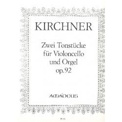 Kirchner, Theodor Fürchtegott: 2 Tonstücke op.92 : für Violoncello und Orgel