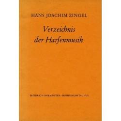 Zingel, Hans Joachim: Verzeichnis der Harfenmusik
