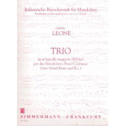 Leone, Gabriele: Trio B-Dur : f├╝r 2 Mandolinen und bc Stimmen