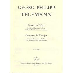 Telemann, Georg Philipp: Konzert F-Dur : f├╝r Blockfl├Âte und Streicher Altblockfl├Âte