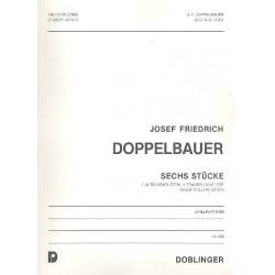 Doppelbauer, Josef Friedrich: 6 Stücke : für 3 Blockflöten (AAT) Spielpartitur