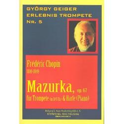 Chopin, Frédéric: MAZURKA OP.67 FUER TROMPETE UND HARFE (KLAVIER)