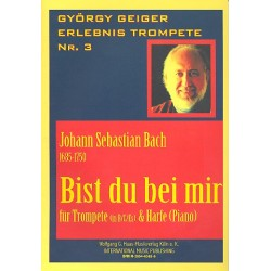 Bach, Johann Sebastian: Bist du bei mir für Trompete und Harfe (Klavier)