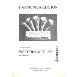 Western Medley für 3 Mundharmonikas, Akkordeon und Baß Partitur
