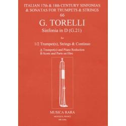 Torelli, Giuseppe: Sinfonie D-Dur G21 f├╝r 1-2 Trompeten, Streicher und Bc