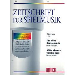 Tenta, Philipp: Eine kleine Heurigenmusik : für 3 Blockfloeten (SSB) Partitur und Stimmen