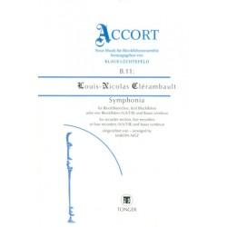 Clérambault, Louis Nicolas: Symphonia für 4 oder 5 Blockflöten und Bc