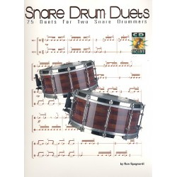 Spagnardi, Ronald: Snare Drum Duets (+CD) : 25 duets for 2 snare drums