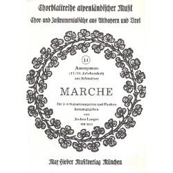 Anonymus: Marche : für 3-4 Naturtrompeten und Pauken Partitur
