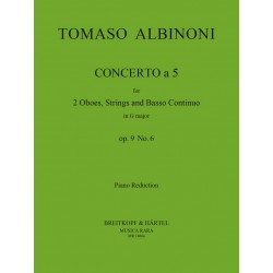 Albinoni, Tomaso: Concerto à 5 op.9,6 for 2 oboes and strings : for 2 oboes and piano