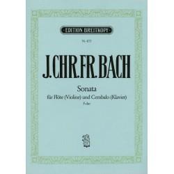Bach, Johann Christoph Friedrich: Sonate F-Dur : für Flöte (Violine) und Cembalo (Klavier)