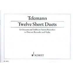 Telemann, Georg Philipp: 12 short Duets : for 2 recorders (SA/ST)