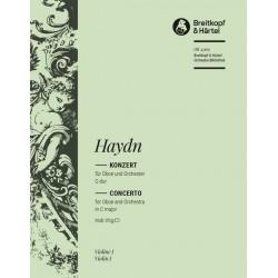 Haydn, Franz Joseph: Konzert C-Dur Hob.VIIg:C1 : f├╝r Oboe und Orchester Violine 1