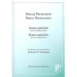 Prokofieff, Serge: Romeo und Julia : für Oboe, Englischhorn, 2 Klarinetten, 2 Hörner und 2 Fagotte, Partitur und Stimmen