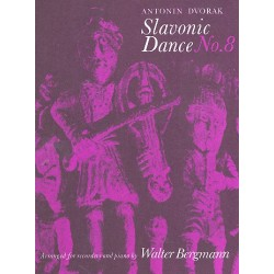 Dvorak, Antonin: Slavonic Dance no.8 op.46,8 : for for recorders and piano parts