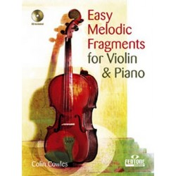 Easy Melodic Fragments (+CD) : for violin and piano
