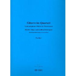 Gitarren im Quartett : 9 polyphone St├╝cke der Renaissance f├╝r 4 Gitarren