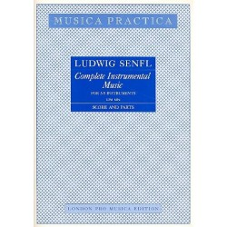 Senfl, Ludwig: Complete Instrumental Music for 3-5 instruments score and parts