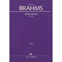 Brahms, Johannes: Schicksalslied op.54 : f├╝r gem Chor und Orchester Klavierauszug (dt/en)