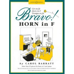 Barratt, Carol Ann: Bravo : more than 25 pieces for horn in F and piano