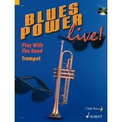 Dechert, Gernot: Blues Power Live (+CD): for trumpet