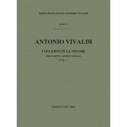 Vivaldi, Antonio: Konzert a-Moll F.VIII:7 : für Fagott, Streicher und Bc Partitur