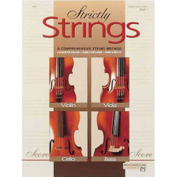 Dillon, Jacquelyn: STRICTLY STRINGS VOL.1 : CONDUCTOR'S SCORE A COMPREHENSIVE STRING METHOD