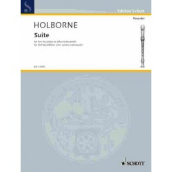 Holborne, Anthony: Suite : for 5 recorders (SAATB) score